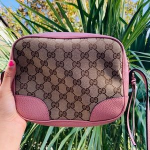 Pink crossbody GUCCI purse